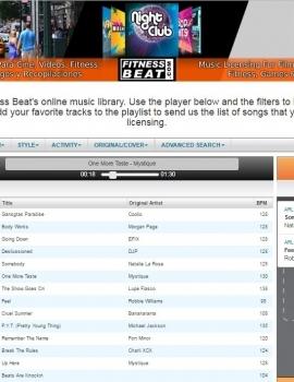Catalogo musicale e gestione di mix online